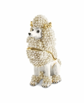 Bejeweled French Poodle Keepsake Box