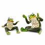 Bejeweled Frog Mother And Child Keepsake Box