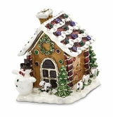 Bejeweled Gingerbread House Keepsake Box