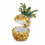Bejeweled Golden Pineapple Keepsake Box