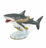Bejeweled Great White Shark Keepsake Box
