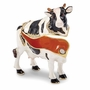 Bejeweled Holstein Black And White Cow Keepsake Box