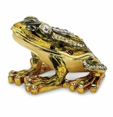 Bejeweled Jumping Frog Keepsake Box