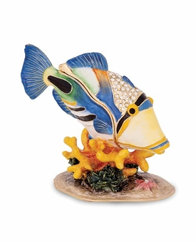 Bejeweled Large Huma Huma Fish Keepsake Box