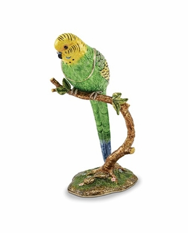 Bejeweled Large Parrot On Branch Books Keepsake Box