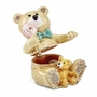 Bejeweled Lolly Bears Two Teddy Bears Keepsake Box