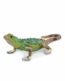 Bejeweled Mojave Lizard Keepsake Box
