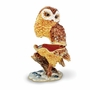 Bejeweled Owl On Branch Keepsake Box