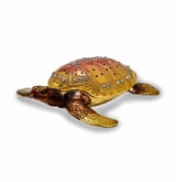 Bejeweled Palm Beach Loggerhead Turtle Keepsake Box