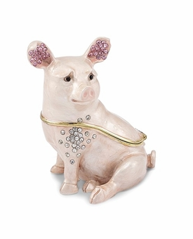 Bejeweled Pig Keepsake Box
