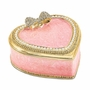 Bejeweled Pink Heart With Ring Pad Keepsake Box