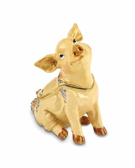 Bejeweled Precious Pig Keepsake Box