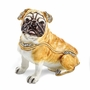 Bejeweled Pug Keepsake Box