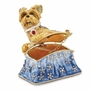 Bejeweled Puppy Purse Keepsake Box