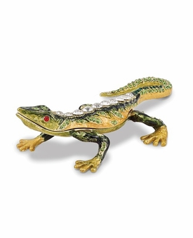 Bejeweled Rain Forest Lizard Keepsake Box
