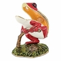 Bejeweled Red Frog On Branch Keepsake Box