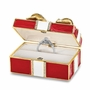 Bejeweled Red Gift With Ring Pad Keepsake Box