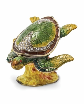 Bejeweled Reef Dweller Turtle Keepsake Box