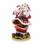 Bejeweled Santa Claus Keepsake Box