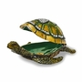 Bejeweled Sea Turtle With Heart Pattern Shell Keepsake Box