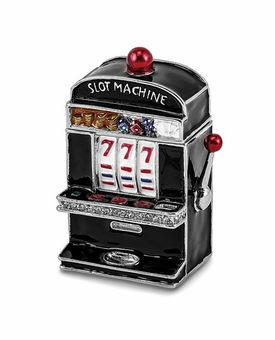 Bejeweled Slot Machine Keepsake Box