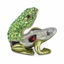 Bejeweled Small Green Frog Keepsake Box