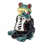 Bejeweled Smoking Frog Keepsake Box