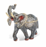 Bejeweled Trumpeting Elephant Keepsake Box