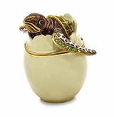 Bejeweled Turtle Hatchling Keepsake Box