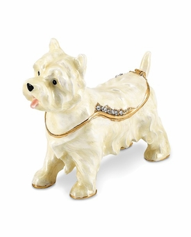 Bejeweled West Highland White Terrier Keepsake Box