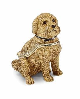 Bejeweled Wheaten Terrier Keepsake Box