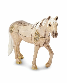 Bejeweled Wild Fire Champagne Pony Keepsake Box
