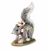 Bejeweled Winter Squirrel Keepsake Box