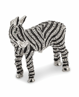Bejeweled Zebra Bling And Full Crystal Keepsake Box