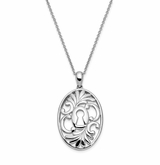 Believe in Miracles Antiqued Sterling Silver Memorial Jewelry Pendant