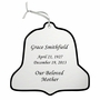 Bell Double-Sided Memorial Ornament - Engraved - Silver