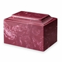 Berry Red Classic Cultured Marble Cremation Urn Vault - Engravable