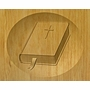 Bible Relief Carved Engraved Wood Cremation Urn