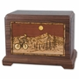 Bicycle Rider with 3D Inlay Walnut Wood Hampton Cremation Urn