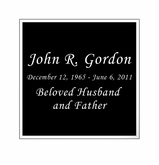 Black and Silver Engraved Nameplate - Square - 2-3/4  x  2-3/4
