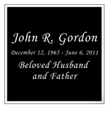 Black and Silver Engraved Nameplate - Square - 3-1/2  x  3-1/2