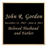Black and Tan Engraved Nameplate - Square - 3-1/2  x  3-1/2