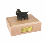 Black Brown Cocker Spaniel Dog Figurine Pet Cremation Urn - 680