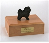 Black Chow Dog Figurine Pet Cremation Urn - 1835
