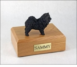Black Chow Dog Figurine Pet Cremation Urn - 674