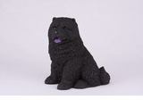 Black Chow Hollow Figurine Pet Cremation Urn - 2729