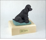 Black Cocker Spaniel Dog Figurine Pet Cremation Urn - 1551