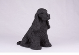 Black Cocker Spaniel Hollow Figurine Pet Cremation Urns - 2732