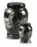 Black Column Marble Cremation Urn