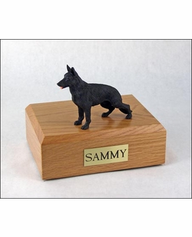 Black German Shepherd Dog Figurine Pet Cremation Urn - 710